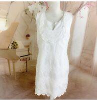 Vineyard Vines Women's White eyelet Ruffle Shift Dress Size 12