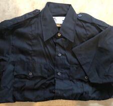 NEW Liberty Midnight Navy SS Uniform Shirt Police Security Large 16-16 1/2