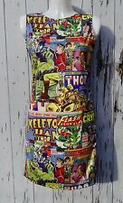 Comic Book Cover Dress - Size 8 10 12 - Bodycon Wiggle Film Superhero Thor Flash