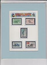 2 - 5 Matted Civil War Stamps(USA Stamps are from 1960s)