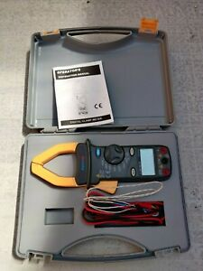 Alphatek TEK680 multimeter with current clamp meter complete with test probes &