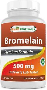 Best Naturals Bromelain 500 mg 120 Tablets