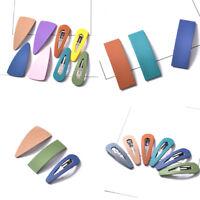 Handmade Acrylic Geometry Hair Clip Pin Slide Hairpin Fastening Hair Accessories