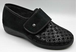 Slippers - Ladies - DeValverde 109 Negro - Adjustable Hook &  Loop Stretch Vamp