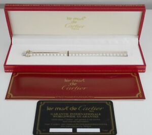 Cartier Vendome Oval Silver Plated Fountain Pen F (Excellent) FREE SHIPPING