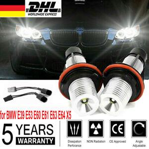 2X LED Standlicht Ringe Angel Eyes für BMW E39 E53 E60 E61 E63 E64 E65 E87 DHL