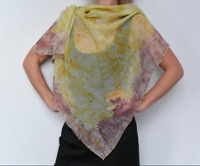 Louis Vuitton sheer Flowers yellow/Pink summer scarf