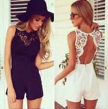 Ladies Lace Playsuit beach holiday wear