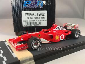 BBR MODELS 1/43 F1 FERRARI F2002 #1 GP SAN MARINO 2002 WINNER M. SCHUMACHER ART.