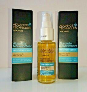 3 x Avon Advance Techniques With Moroccan Argan Oil Nourishing Hair Serum