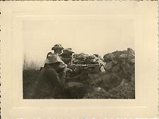 PHOTO ANCIENNE - VINTAGE SNAPSHOT - MILITAIRE FUSIL ARME NÉDRONA ALGÉRIE 1955
