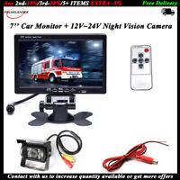"RV Truck Bus Van Car IR Back Up Camera Night Vision System+7"" Rear View Monitor"