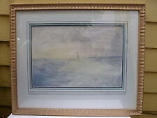 Point Loma California Sailboats Watercolor by Maude A Leach (1870-1927) Listed