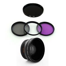 52mm Wide Lens + UV,CPL,FLD,IR950 Filters for Nikon D40 D50 D60 D70 D7200 D3200