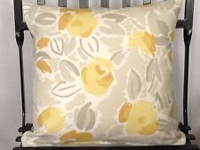 Laura Ashley fabric cushion cover Emma Camomile With Plain Reverse
