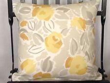 Laura Ashley Fabric Cushion Cover Emma Camomile With Plain Reverse