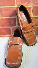 FRANCO SARTO WOMEN'S LEATHER LOAFERS RUST COLORED SZ 6M  442