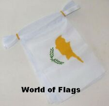 CYPRUS BUNTING Cypriot Flag 9m 30 Fabric Party Flags Europe European 9 Metres