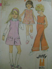 Vintage Simplicity PANTJUMPER PANTDRESS Girls Child Size 4 Sewing Pattern  8174