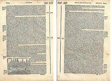 1535 PARIS Parigi Jacopo Filippo Foresti Bergomensis xilografia France