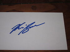 Kris Beech Autographed 3X5 Index Card-Penguins