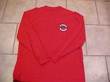 University Wisconsin Uw Badgers Xl Long Sleeved Henley Shirt Mens Mans Nwot Red