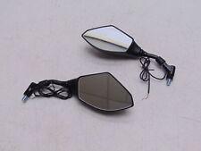 BikeMaster Mirror Set with LED Turn Signals Black JY127 LED BLK