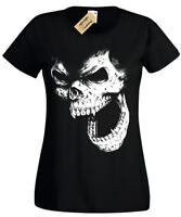 SKULL Womens T Shirt ladies Vest