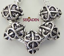 5 Caduceus Medical Charm 10 * 14 w/ 5 mm Hole Fits European Style Jewelry S093