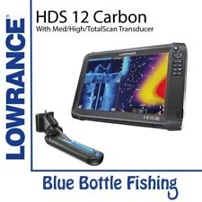 Lowrance HDS-12 Carbon With Med/High/TotalScan Transducer