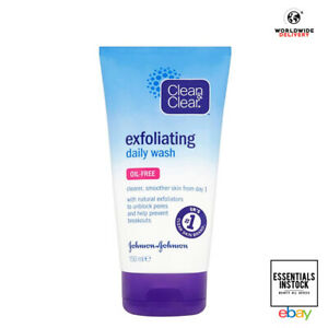 Clean & Clear Exfoliating Daily Face Wash 150 ml Oil Free Sensitive Skin