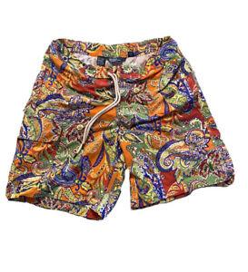 Polo Ralph Lauren Swim Trunks Briefs Shorts Hawaiian Tropical Mens SMALL PAISLEY