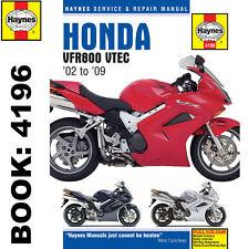 Honda VFR800 Haynes Manual 2002-2009 VTEC Interceptor Workshop Manual