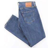 LEVI'S 501 BIG E Blue Denim Regular Straight Jeans Mens W34 L30
