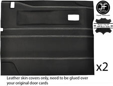 WHITE STITCH 2X FRONT DOOR CARD COVERS FITS LAND ROVER DEFENDER 90 110 STYLE 2
