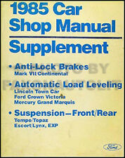 1985 Lincoln Mark VII and Continental ABS Brakes Repair Shop Manual Suspension