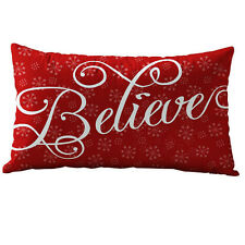 Rectangle Sequins Sofa Bed Home Decor Christmas Pillow Case Cushion Covers