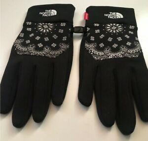 Very rare FW14 Supreme x THE NORTH FACE Bandana Gloves black size L large