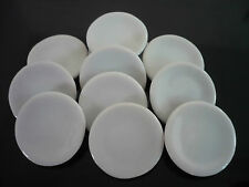 10x20 mm. White Round  Plates  Dollhouse Miniatures Ceramic Supply Deco