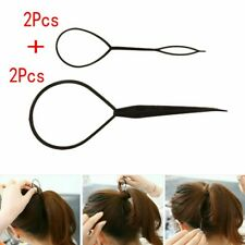 *** HOT Black Topsy Tail Hair Braid Ponytail Styling Tool Hair Accessory 4pcs***