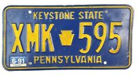 Pennsylvania 1991 Old License Plate Garage Man Cave Old Car Tag Vtg Decor Auto