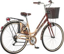 breluxx® 28 Zoll Damenfahrrad Venera Fashion Leopard Citybike mit Korb + Licht