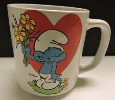 Vintage Smurf Mug With Heart And Smurf