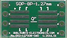 Płytka SO8,SOP8,SOIC8 1.27mm na podstawkę DIP8 0.6 cala. [PL]