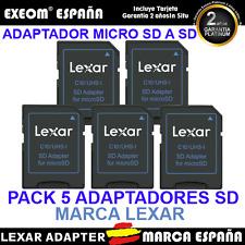 ADAPTADOR LEXAR PARA TARJETA DE MICRO SD A SD PACK 5 UNDS ADAPTER ALTA VELOCIDAD