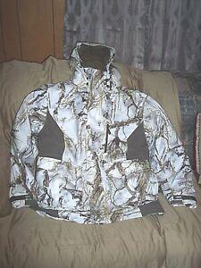 Mens Medium Snow Camo Parka 3n1 Jacket Insulated Waterproof Coat Zip Out Liner