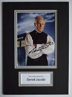 Derek Jacobi Signed Autograph A4 photo mount display Doctor Who TV AFTAL COA