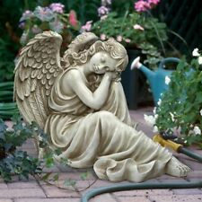 Harmony At Ease Angel Design Toscano Exclusive Antique Stone Finish Statue
