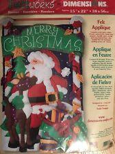 Dimensions Felt Appliqué Santa Banner Kit NOS
