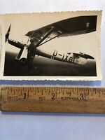 Vintage Original Photo WWII German Airplane plane Photograph Soldiers Posing